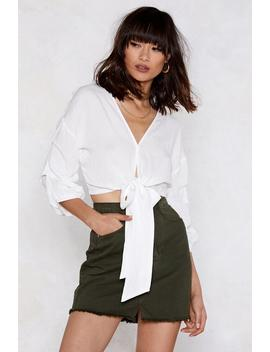 All Tied Up Ruched Blouse by Nasty Gal