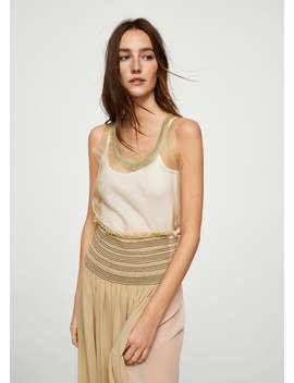 Premium   Strap Silk Top by Mango