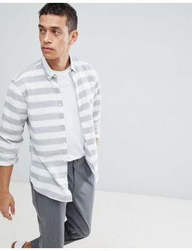 Selected Homme Slim Fit Shirt With Horizontal Stripe by Selected Homme
