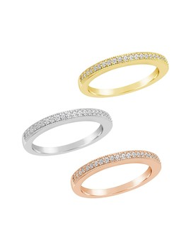 14 K Tricolor Gold Vermeil Stacking Rings   Set Of 3 by Sterling Forever