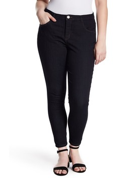 High Rise Ab Tech Ankle Skinny Jeans (Plus Size) by Democracy