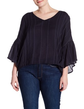 Flutter Sleeve Blouse (Plus Size) by Susina