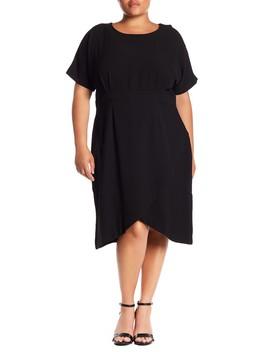 Crepe Wrap Skirt Dress (Plus Size) by Bobeau