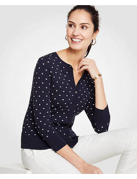 Petite Dotted Ann Cardigan by Ann Taylor