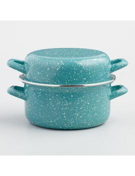 Turquoise Enamel Mussel Pot by World Market