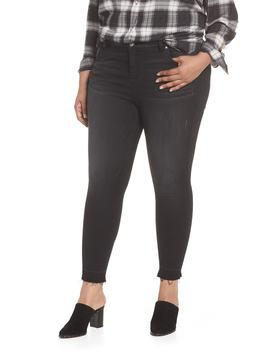 Donna Frayed Released Hem Crop Skinny Jeans by Kut From The Kloth