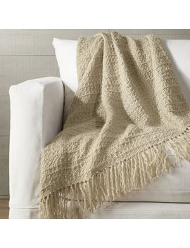 Bexley Natural Throw by Crate&Barrel