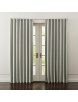 Wallace Grey Blackout Curtains by Crate&Barrel