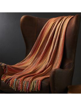 Shelby Orange Throw by Crate&Barrel
