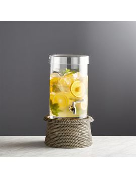 Cold Drink Dispenser With Artesia Grey Stand by Crate&Barrel