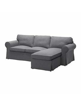 Ikea Cover For 3 Seat Sectional, Nordvalla Dark Gray 1228.8811.638 by Ikea
