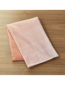 Elation Orange Dish Towel by Crate&Barrel