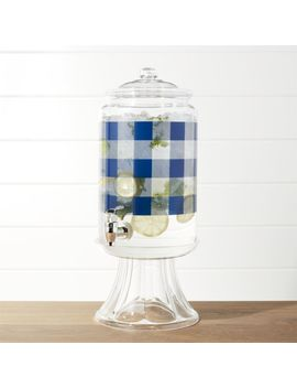 Check Acrylic Drink Dispenser With Clear Stand by Crate&Barrel