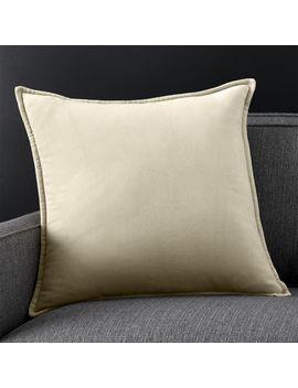 """Brenner Sesame 20"""" Velvet Pillow by Crate&Barrel"""