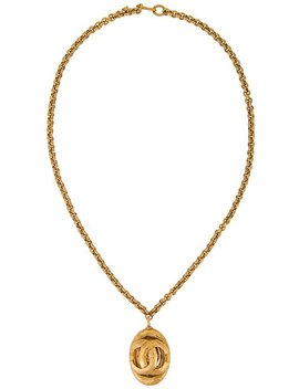 Cc Logo Necklace by Chanel Vintage
