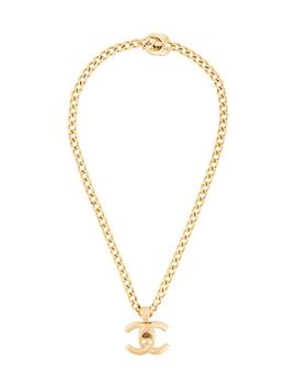 Cc Turnlock Necklace by Chanel Vintage