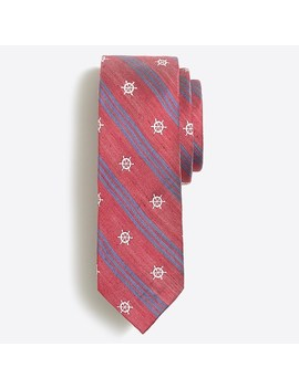 Embroidered Striped Tie by J.Crew