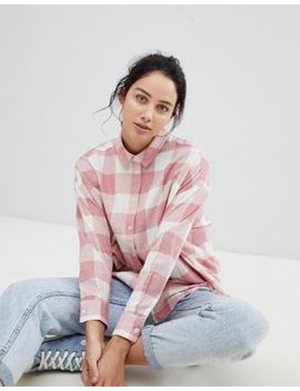 Asos Design Oversized Boyfriend Shirt In Picnic Check by Asos Design