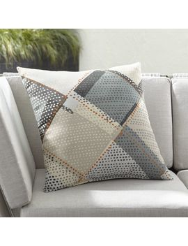 "Dot Diamond 20"" Sq. Outdoor Pillow by Crate&Barrel"