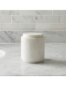 Graydon Small Marble Bathroom Canister by Crate&Barrel