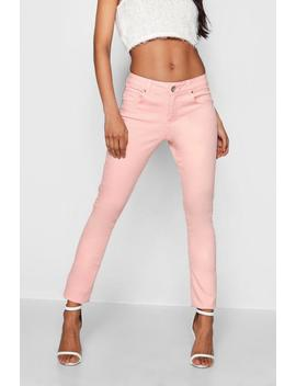 Light Pink Skinny Jeans by Boohoo