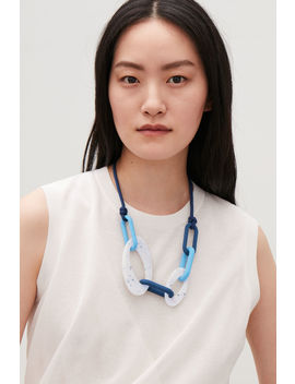 Ceramic Chain Necklace by Cos