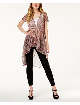 Juniors' Printed Mesh Maxi Top, Created For Macy's by American Rag
