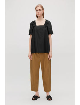 Cotton Silk Top With Drawstring by Cos