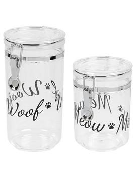 Iris Dog & Cat Treat Jar Set by Iris