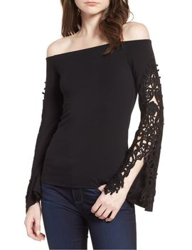Lace Bell Sleeve Off The Shoulder Top by Bailey 44