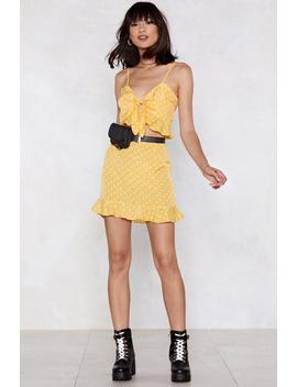 Consider It Done Polka Dot Crop Top And Skirt Set by Nasty Gal