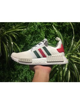 Adidas Nmd Custom Shoes Gucci Bee Style Paint Louis Vuitton Mens Womens White Color Athletic Run Sneakers And Custom Laces And Regular Laces by Etsy