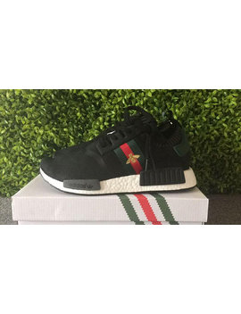 Adidas Nmd Custom Shoes Gucci Bee Style Paint Louis Vuitton Mens Womens Black Color Athletic Run Sneakers And Custom Laces And Regular Laces by Etsy