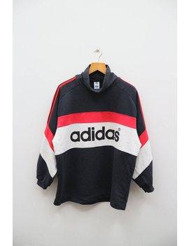Vintage Adidas Three Stripes Big Spell Sportswer Black Sweater Sweatshirt Size M L by Etsy