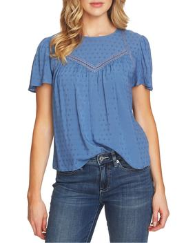 Jacquard Crochet Blouse by Cece