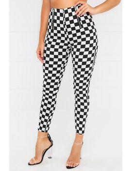 Game Over Pant   Black Checker by Lola Shoetique