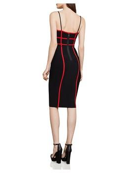 Contrast Trim Body Con Dress  by Bcbgmaxazria