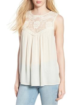 Lace Yoke Swing Tank by Hinge