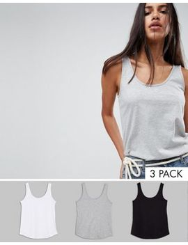 Asos Design Ultimate Vest 3 Pack Save 20 Percents by Asos Design