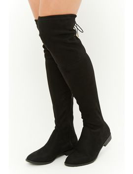 Yoki Faux Suede Over The Knee Boots by Forever 21