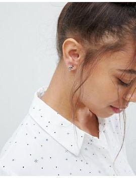Kingsley Ryan Sterling Silver Moon & Stars Stud Earrings by Kingsley Ryan