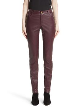 Mercer Nappa Leather Pants by Lafayette 148 New York