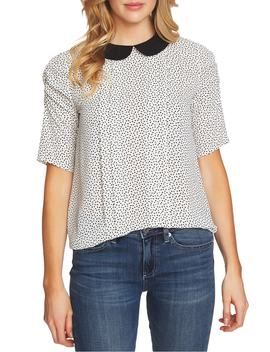 Puff Sleeve Confetti Print Top by Cece