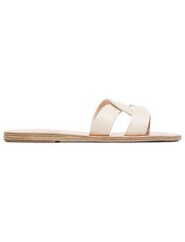 Ancient Greek Sandalswhite Desmos Double Strap Leather Sandalshome Women Shoes Sandals by Ancient Greek Sandals
