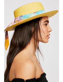 Aurora Silk Band Straw Hat by Free People
