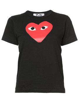 Comme Des Garçons Playheart Print T Shirthome Women Clothing T Shirts & Jerseys by Comme Des Garçons Play