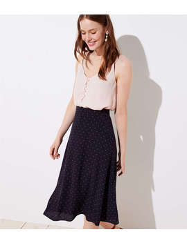 Petite Dotted Midi Skirt by Loft