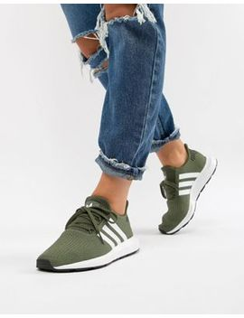 Adidas Originals Swift Run Trainers In Khaki by Adidas