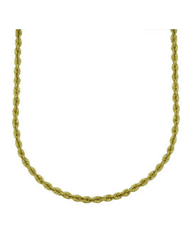 Majestique™ 18 K Yellow Gold Hollow Rope Chain Necklace by Fine Jewelry