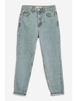 Moto Blue Grey Mom Jeans by Topshop